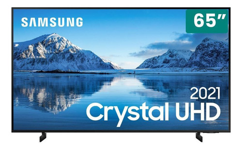 Smart Tv Samsung Preta Crystal Uhd 4k 65  Un65au8000gxzd