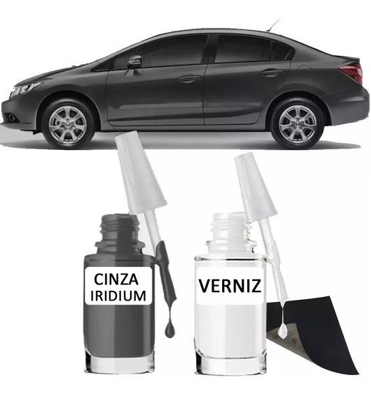 Tinta Tira Risco Automotivo Honda Civic Cor Cinza Iridium