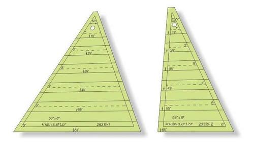 Imagem 1 de 5 de Régua Para Patchwork - Triângulo 53 Graus X 6,5  Pol - 26316