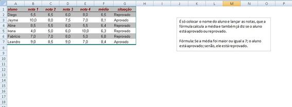Calcular Notas De Alunos