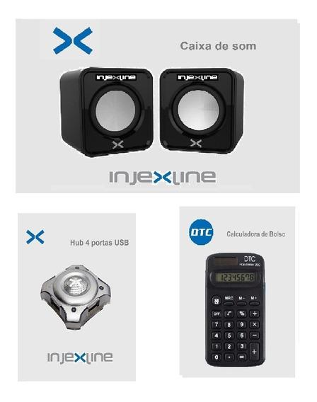 Caixa De Som + Hub 4 Portas + Calculadora -injexline