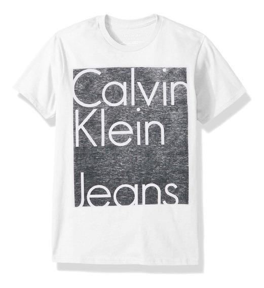 Remera Para Niño Calvin Klein - Nuevas, Traídas De Usa!