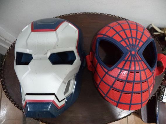 Mascaras Homem De Ferro E Aranha-hasbro Antigas Incompletas