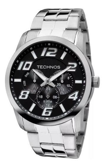 Relógio Technos Masculino Performance Prata Lançamento Ref. - 6p29aft/1p ( 1 Ano De Garantia E Frete Grátis )