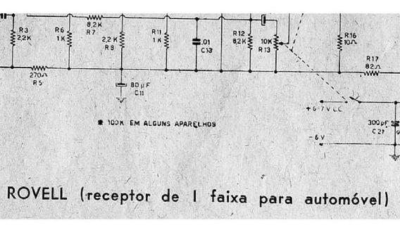 Esquema Radio Rovell Recepitor Automotivo 1 Faixa Em Pdf