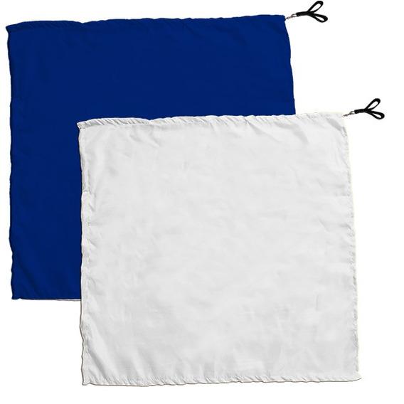 Swing Flag Quadrado Azul Escuro E Branco - Vendido Por Par