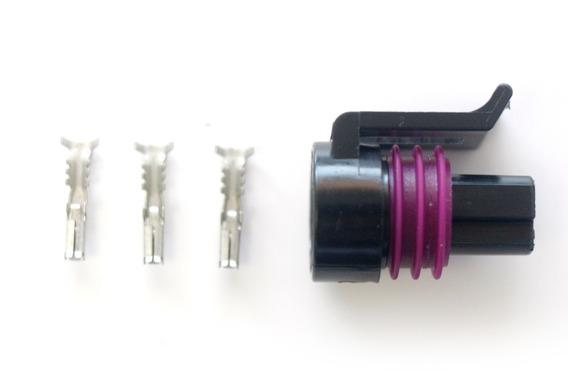 Conector De Sensor De Pressão Dacar 3 Vias Fêmea (tp Corsa)