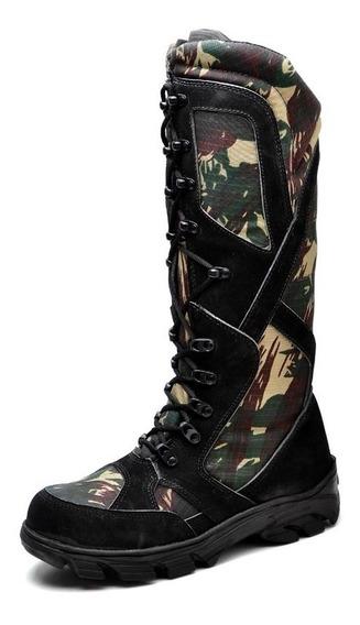 Bota Coturno Militar Tatico Exercito Anti Picadas De Cobras
