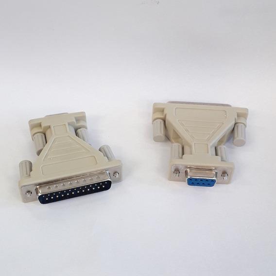 Adaptador Db9f/db25m Kit C/ 4 Unidades
