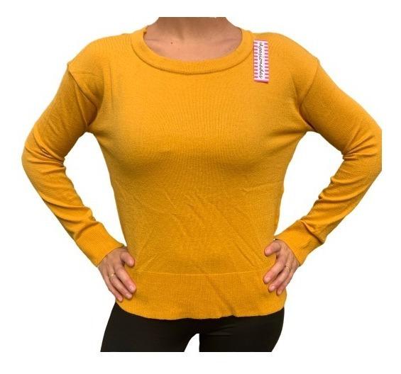 Sweter Lycra Moda Mujer A La Cintura Básico