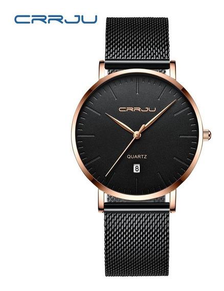 Reloj Caballero Hombre Metalico Ultra Delgado Moderno Slim