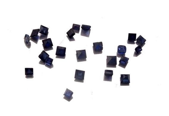 Lote 23 Safiras Natural Pedra Preciosa Gema Quadrada J21316