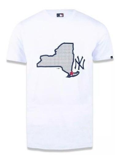Camiseta New Era New York Yankees Map Branca Mlb - Masculino