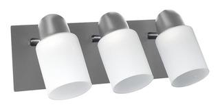 Aplique Pared 3 Luces Led E27 Exterior Base Acero