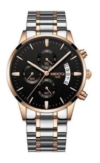 Relógio Nibosi Original De Luxo Todo Funcional Top!!!