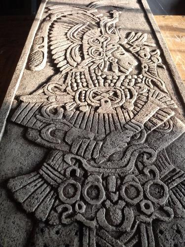 Guerrero Maya - Escultura Mural En Relieve