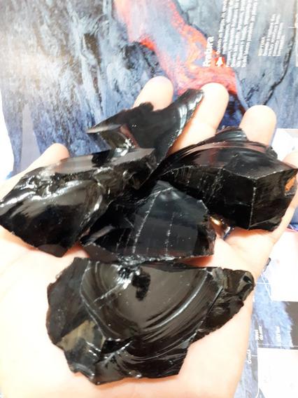 Lote 500g Cristal Obsidiana Negra Vulcânica Pedras Naturais