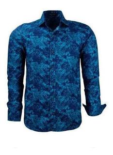Camisa Masculina Floral Lançamento 2020 Modelo 1644 Comfort