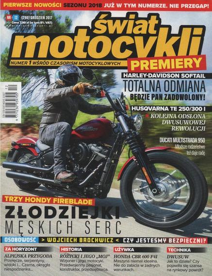 Swiat Motocvkli Dez/2017 Husqvarna Te 250 300i Hd Softail