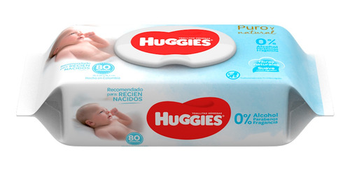 Imagen 1 de 2 de Huggies Toalla Húmeda Para Recién Nacido X 80 Unidades