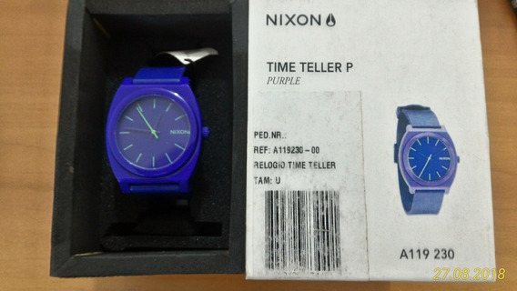 Nixon Time Teller Purple Novo Na Caixa