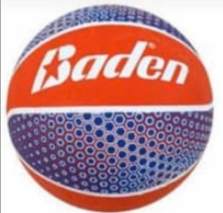 Balon Basket Número 7 Goma Rojo Azul Kt 15