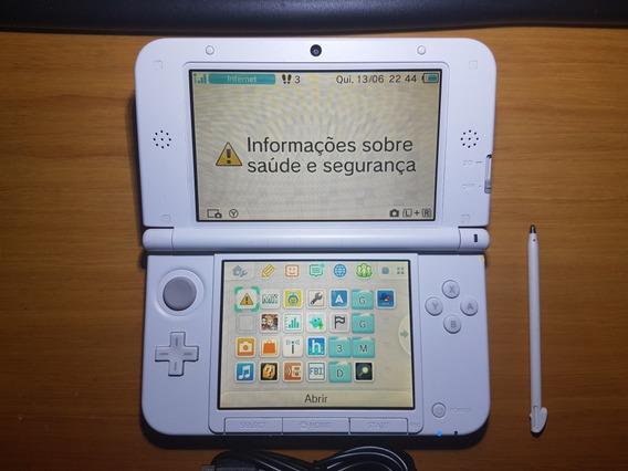 3ds Xl Branco Desbloqueado + Cartão 32gb N07