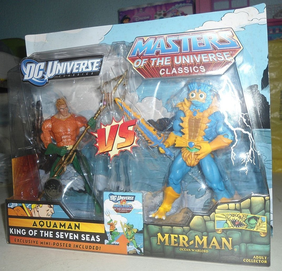 Mattel Dc Universe Vs He-man Figuras De Aquaman Vs Merman