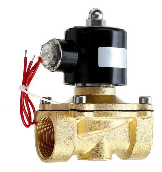 Llave Electroválvula 1 Pulg Solenoide 110v Gas Agua Aire