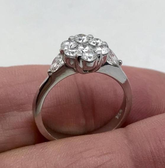 Maravilhoso Anel De Ouro 18 Klts,com Diamantes Hiper Limpos.