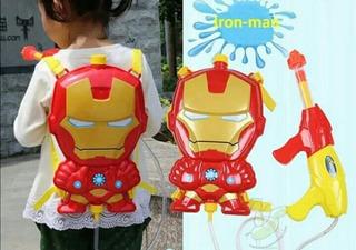 Pistola Tipo Mochila Para Niños De Iron Man