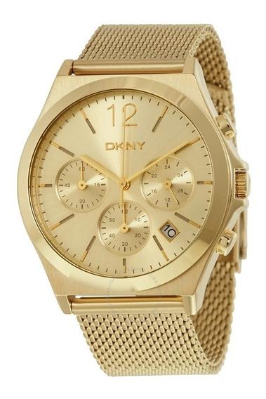 Relógio Luxo Feminino Dkny Donna Karan Original Medio Ny2485
