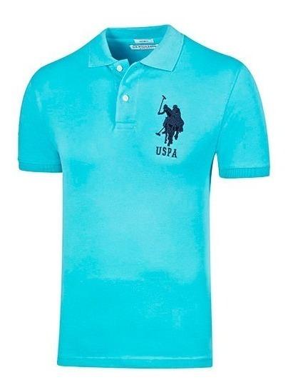 Playera Casual Caballero Polo Assn. Uslpm-44-5220 Azul T3