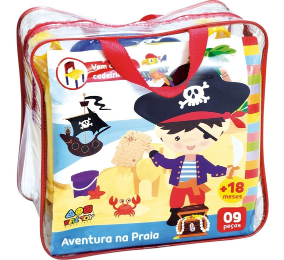 Frasqueira Para Praia Bell Toys Aventura Na Praia - 1 Cadeir