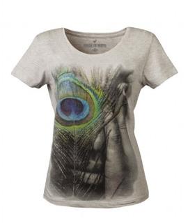 Camiseta Baby Look Feminina Made In Mato Mescla Claro F4074
