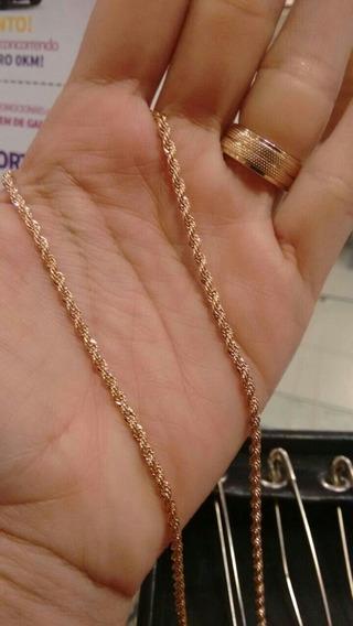 Cordão Rommanel Feminino Corda Fio Baiano 50cm 530742