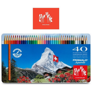 Lápis De Cor Profissional Carandache 40 Estojo Metal
