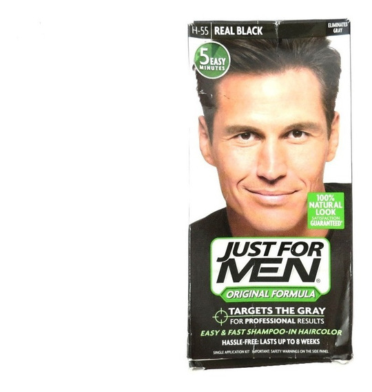 Tinta (shampoo) Just For Men Cor Real Black H-55