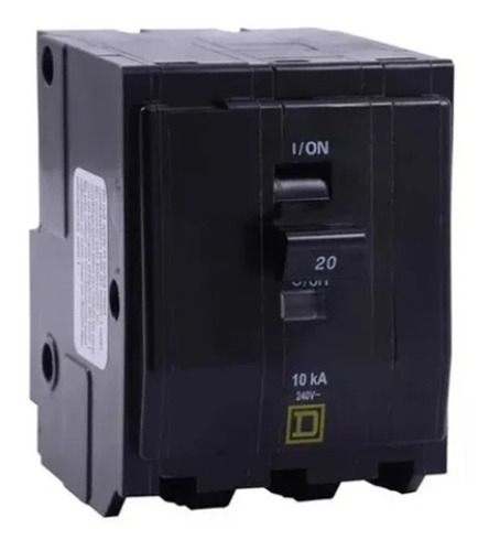Imagen 1 de 3 de Pastilla Interruptor Termomagnético Qo320 3polo20a Schneider