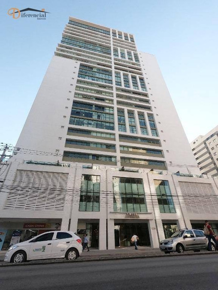 Sala Para Alugar, 43 M² Por R$ 2.100,00/mês - Água Verde - Curitiba/pr - Sa0320
