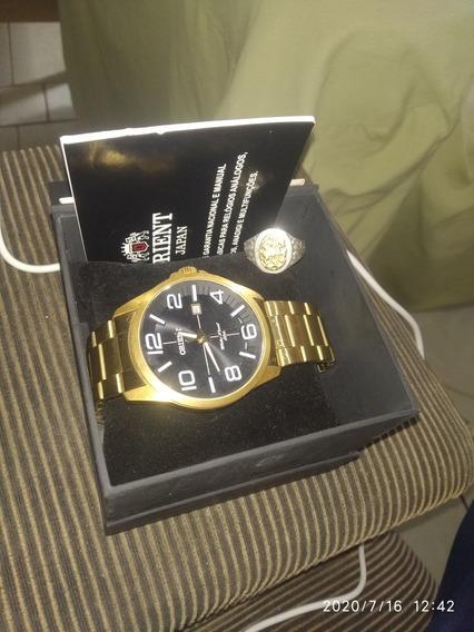 Relógio Orient Mgss1 123,anel São Jorge
