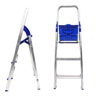 Escada Doméstica Dobrável Em Alumínio - 3 Degraus - Alume