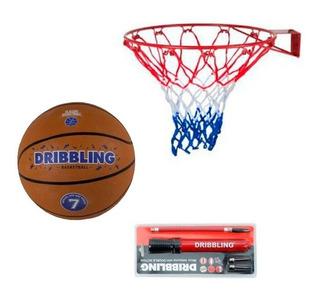 Kit Baloncesto Aro Balon Bombin Basketball Basquetbol Regalo