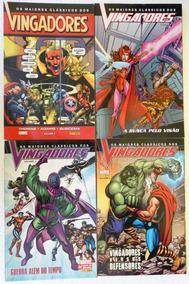 Os Maiores Clássicos Dos Vingadores Nºs 1 A 4! Completa!