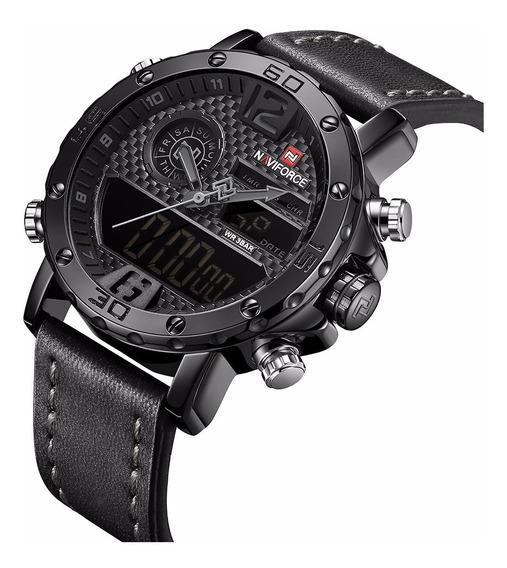 Relógio Masculino Militar Digital Naviforce Quartzo Presente