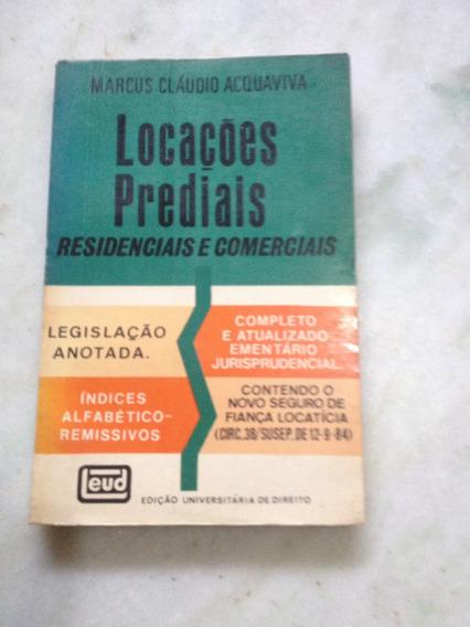 Livro Locações Prediais Residenciais E Comerciais Acquaviva
