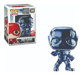 Funko Pop : Dc Justice League - Flash #208 Chrome Blue