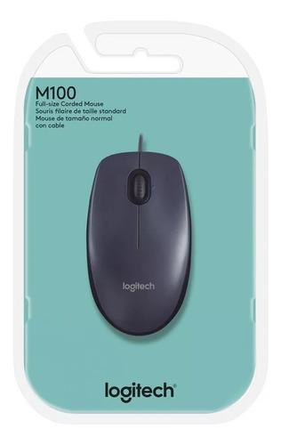 Mouse Logitech M100 Preto 910-001601