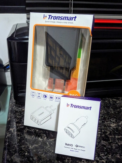 Carregadores Tronsmart Tomada + Veicular 3 Usb Quickcharge 3
