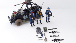 G.i.joe Cobra Troopers Y Vehículo Todo Terreno Custom